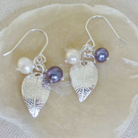 Leaf Charm Drop Earrings