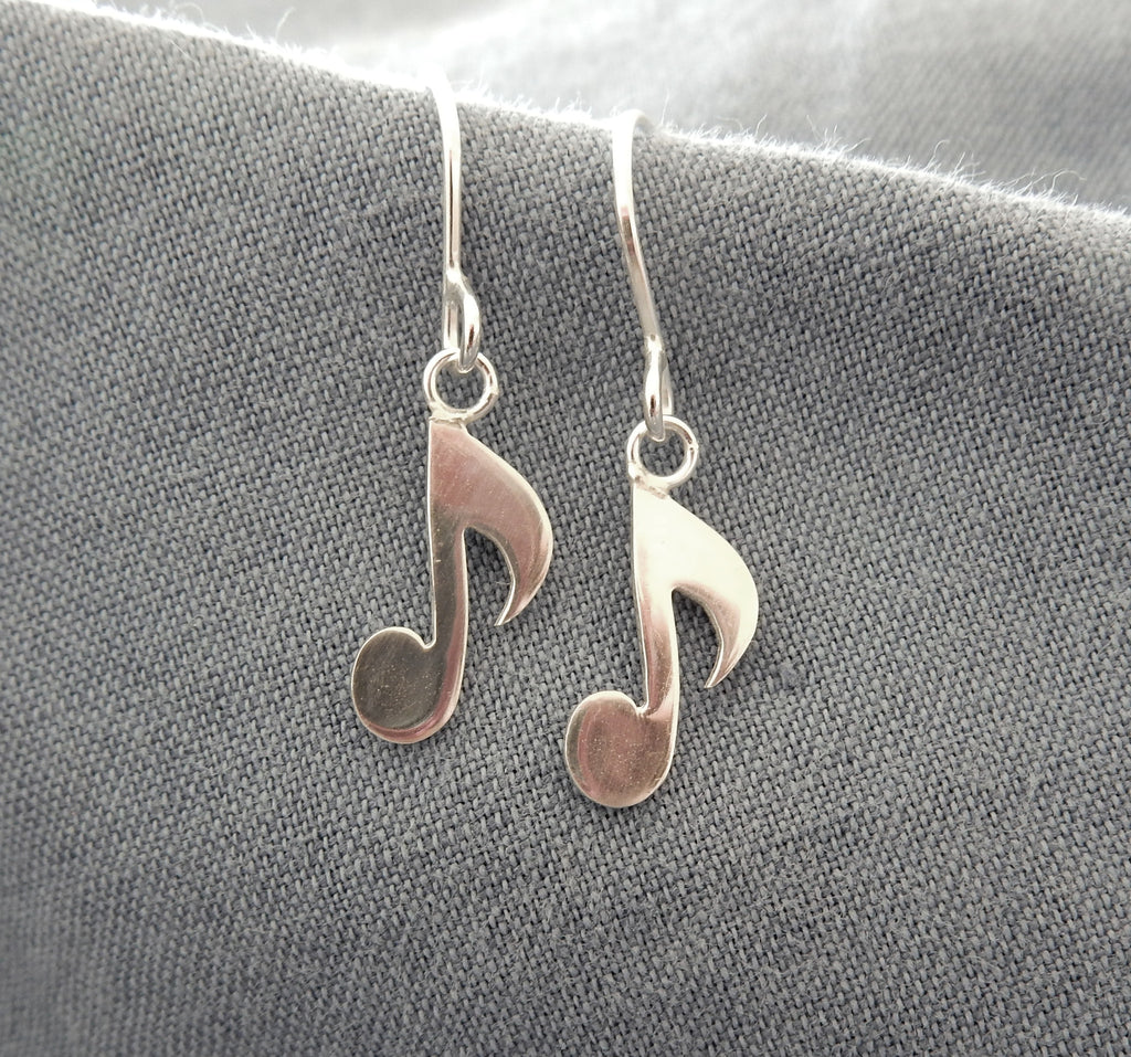 Musical Note Drop Earrings