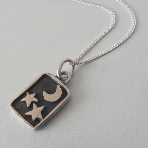 Night Sky Pendant and Chain