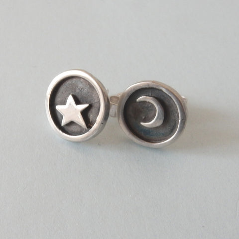 Night Sky Stud Earrings