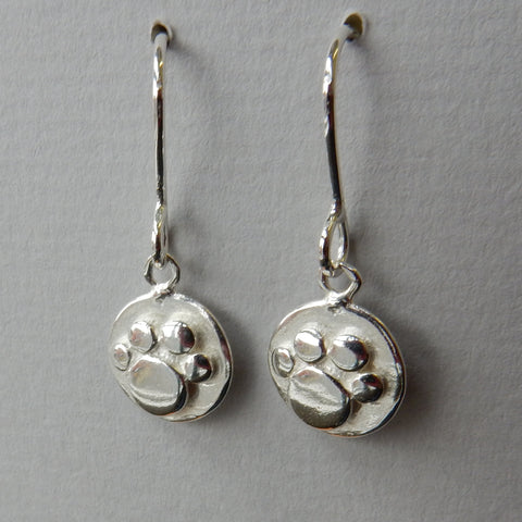 Pawprint Small Drop Earrings