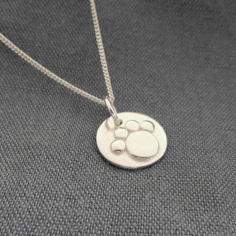 Large Pawprint Pendant and Chain