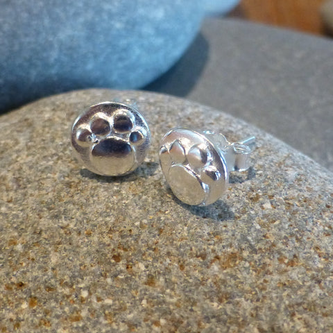 Mini Paw Print Stud Earrings