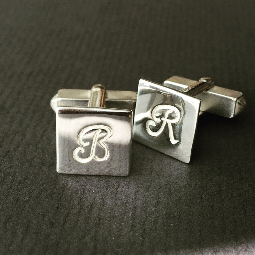 Personalised Square Monogram Cufflinks