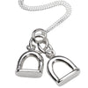 Stirrup Charm Pendant and Chain