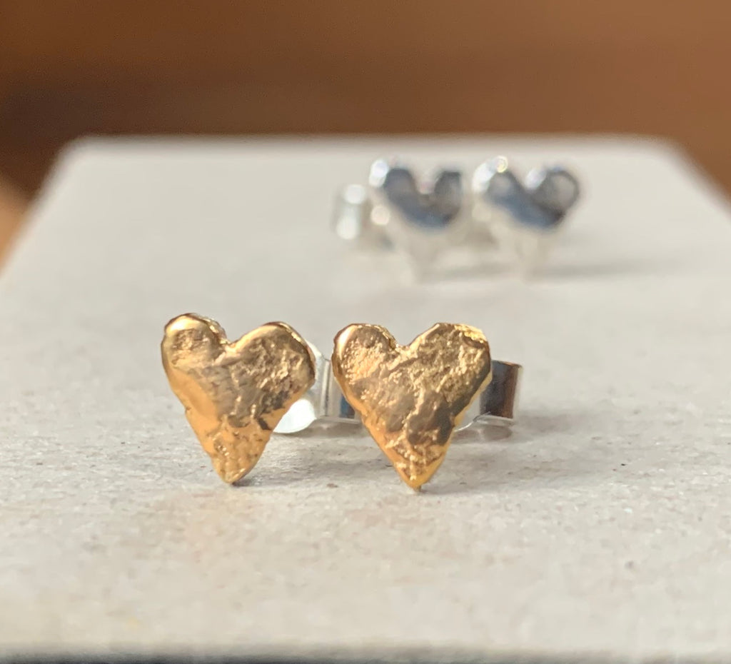 Gold Plated Sweetheart Studs Earrings