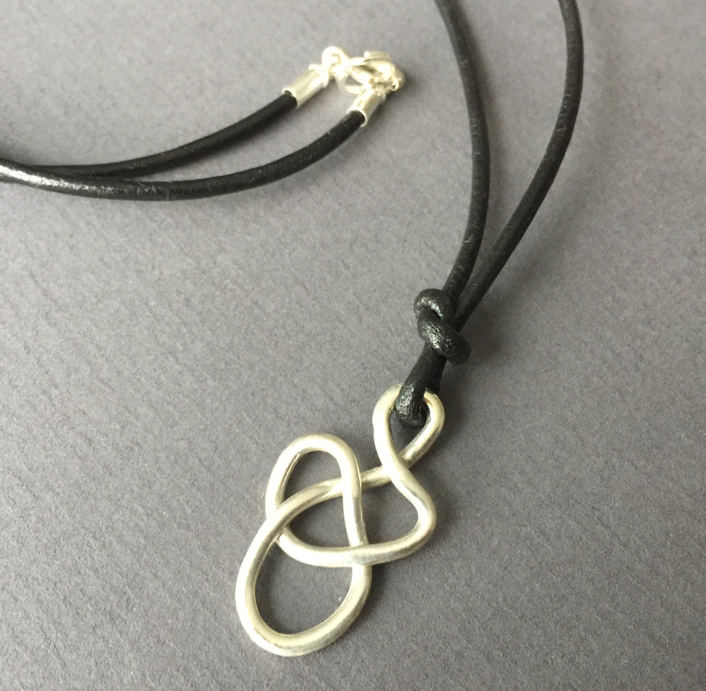 Tangle Pendant and Leather Necklace - Unisex