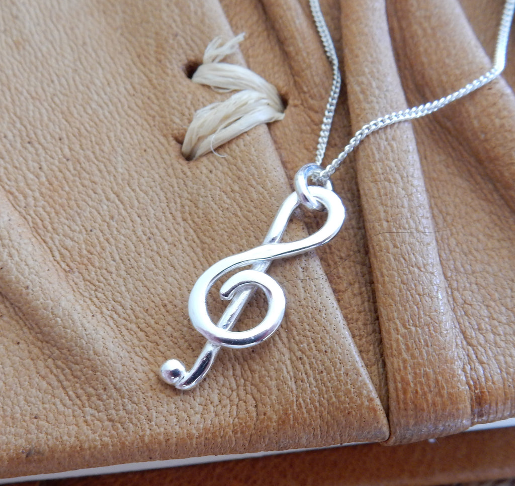 Treble Clef Pendant and Chain