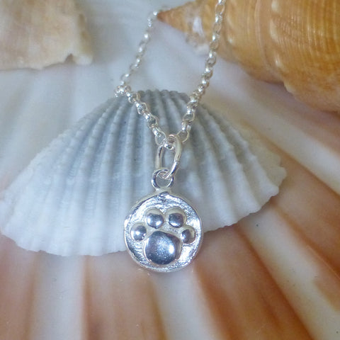 Pawprint Charm Necklace