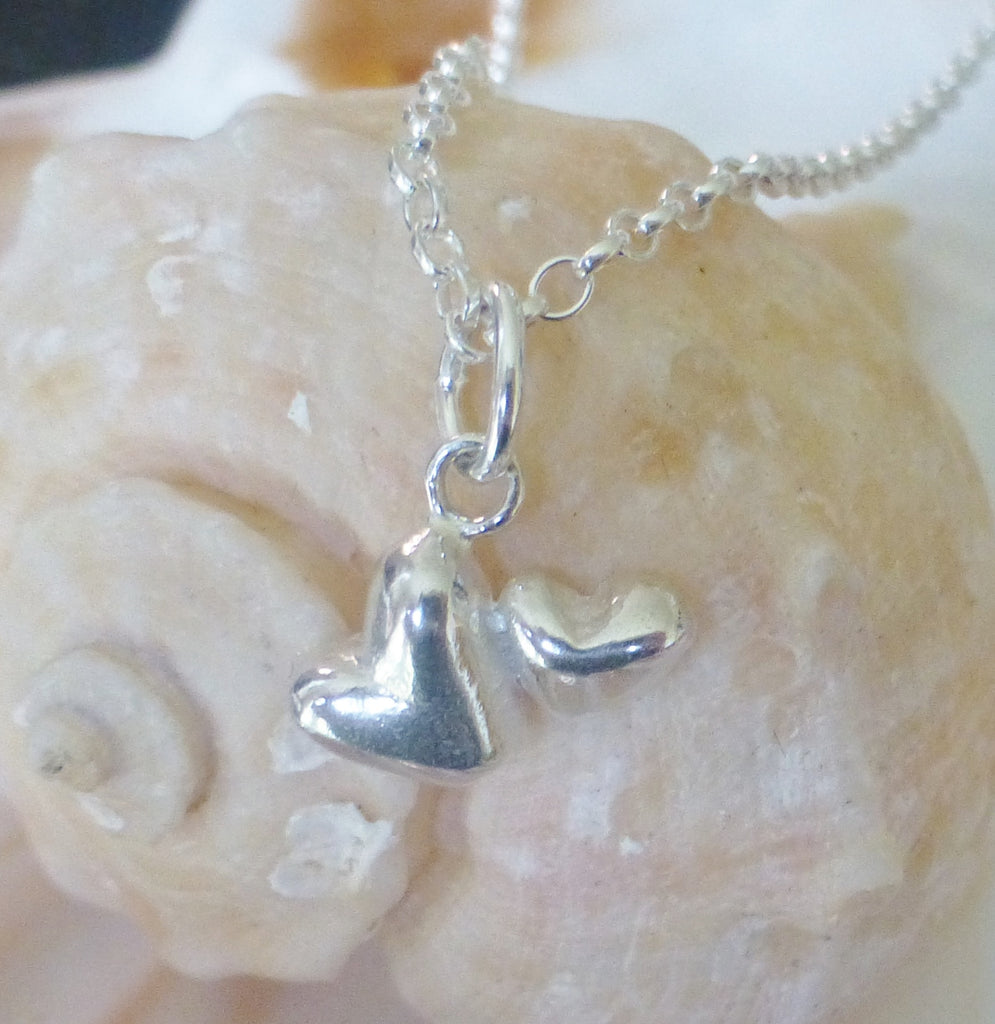 Double Heart Charm Pendant and Chain