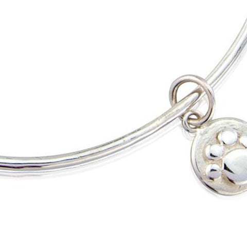 Pawprint Charm Bangle