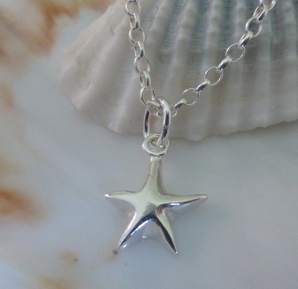 Star Charm Childs Pendant and Chain