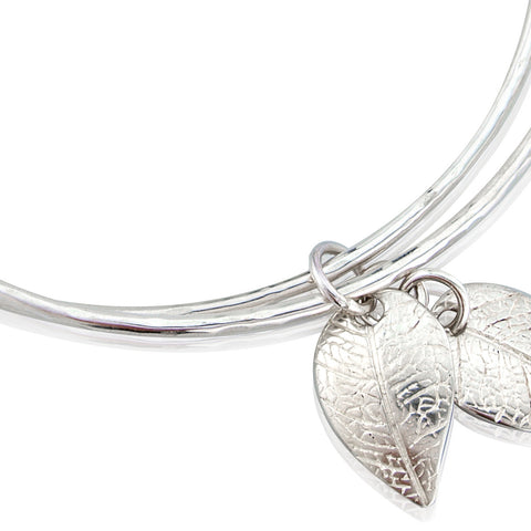 Leaf Charms Double Bangle