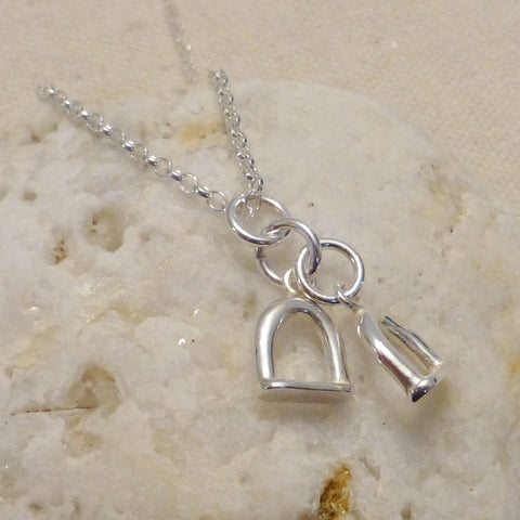 Childs Stirrup Charm Necklace