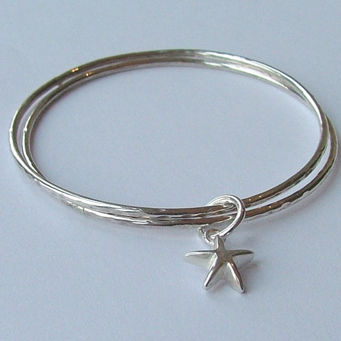 Double Bangle with Star Charm
