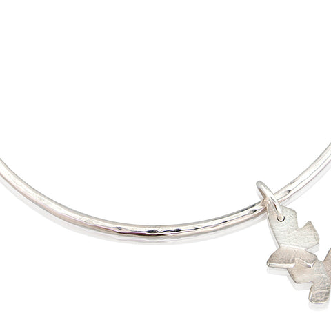 Flutterby Charm Bangle