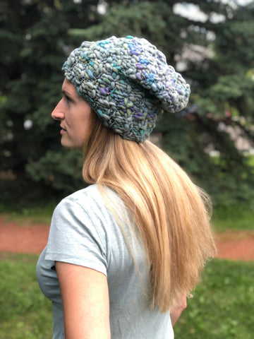 Woman wearing slouchy hat
