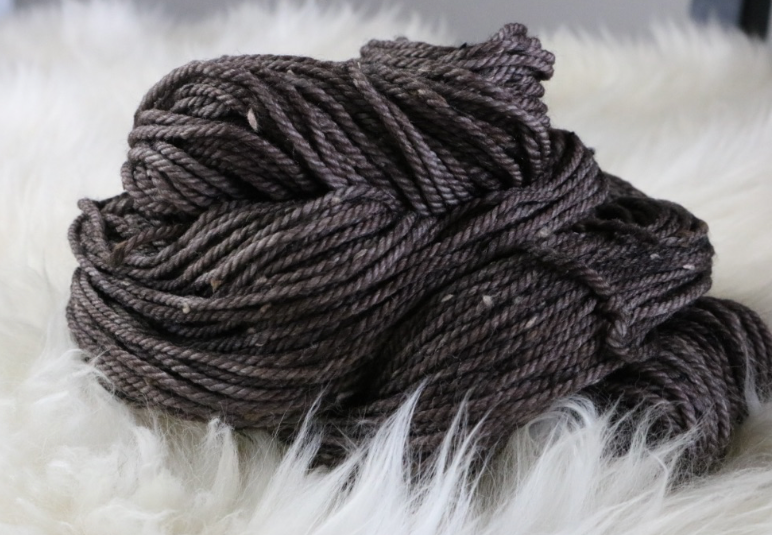 Olann Donegal Tweed Aran Espresso Brown