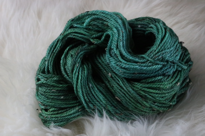 Green Tweed Yarn