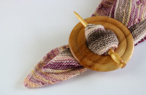 Poplar & Garry Oak Shawl Pin