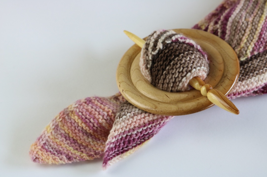 Maple & Lilac Shawl Pin