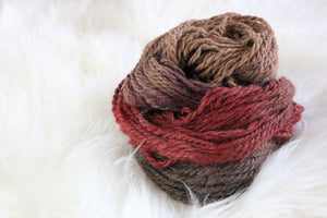 Red Rock Canyon alpaca hand dyed yarn