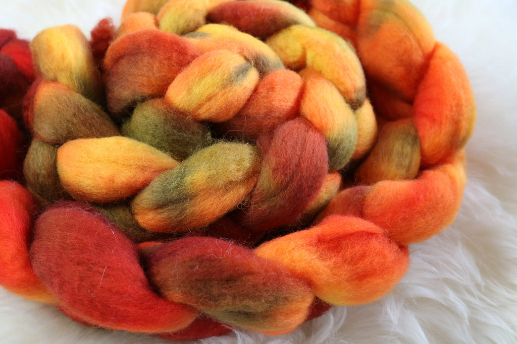 Wildfire Orange Spinning or Felting Fibre