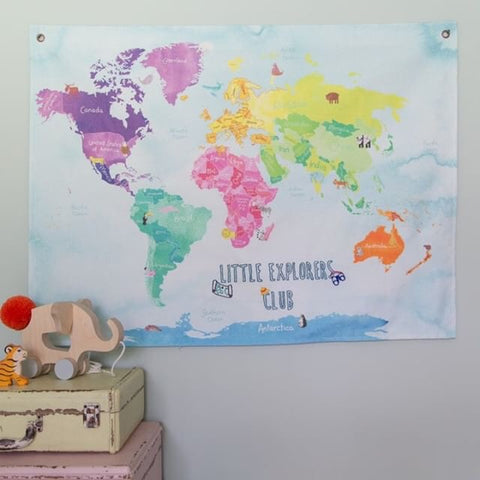 children's world map by the crafty traveller