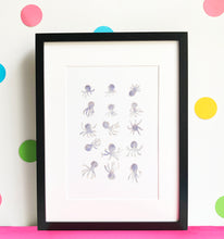 Load image into Gallery viewer, Cute Octopuses Illustration - unframed giclee print
