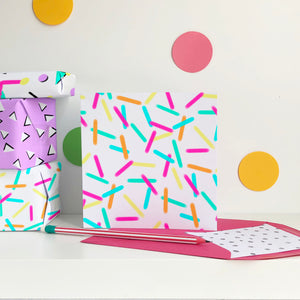 Rainbow Sprinkles - blank greeting card