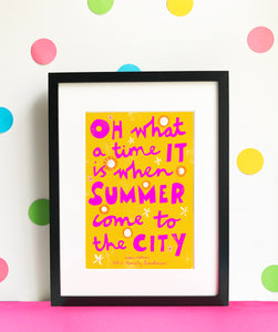 Sam Selvon Summer - digital illustration - unframed giclee print