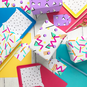 Rainbow Sprinkles wrapping paper and gift tags