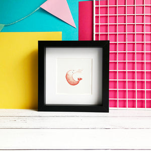 Curly Prawn Illustration - unframed Mini Giclee Print