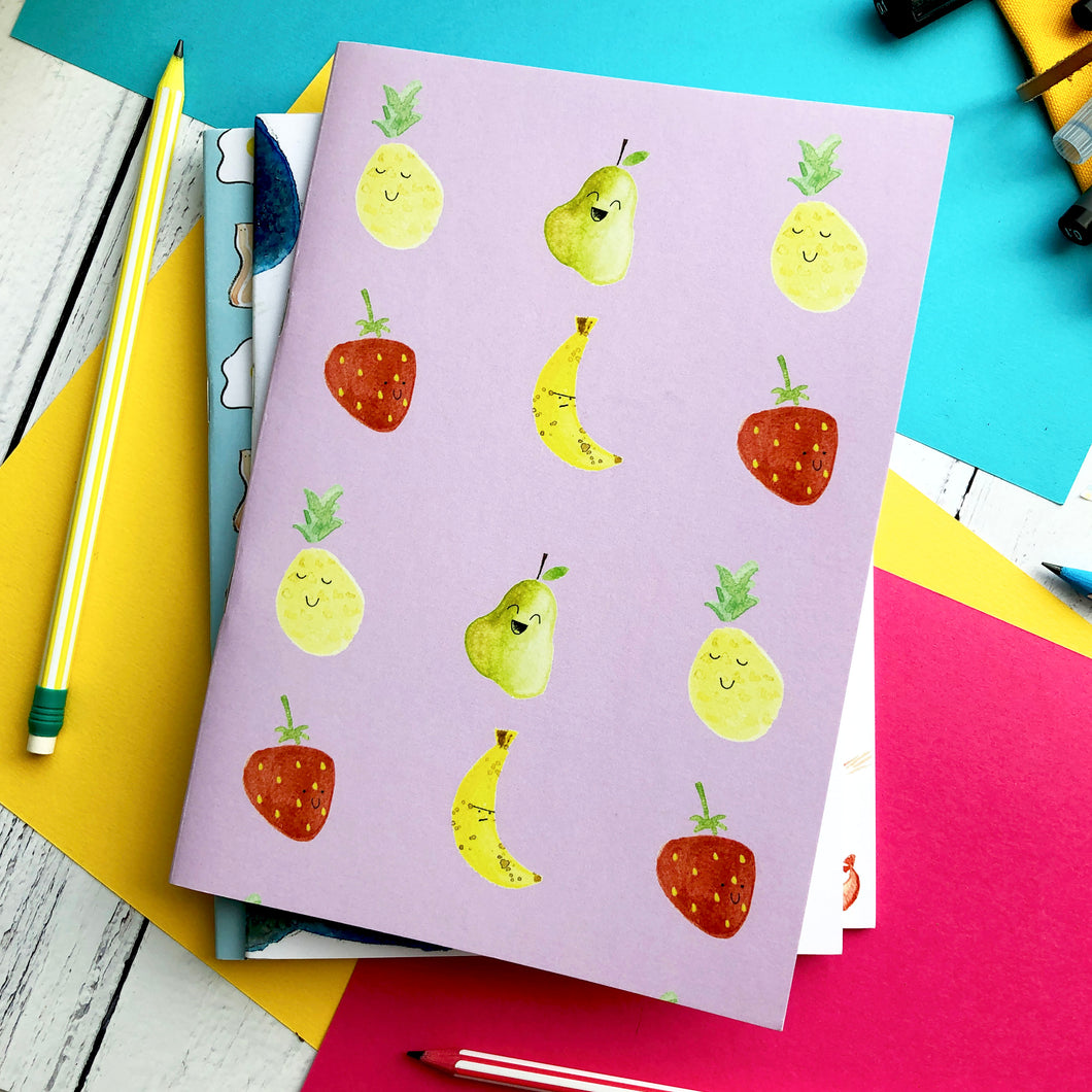 Fruit Cocktail A5 Unlined Notebook