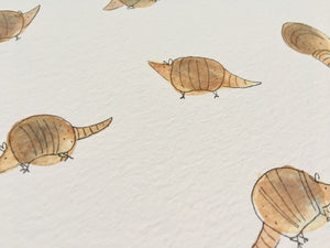 Armadillo illustration - unframed print
