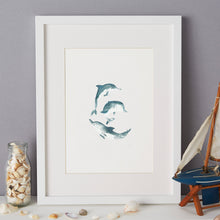 Load image into Gallery viewer, Dolphin Illustration - unframed giclee print