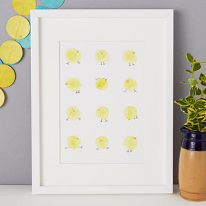 Chicks Illustration - unframed giclee print