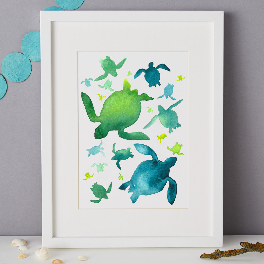 Sea Turtle Illustration - unframed giclee print