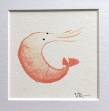 Load image into Gallery viewer, Curly Prawn Illustration - Framed Mini Giclee Print