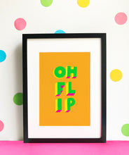 Load image into Gallery viewer, OH FLIP giclee illustration print