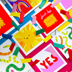 YES - square giclee illustration print