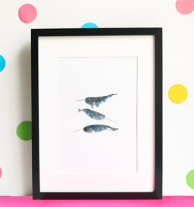 Narwhal Illustration - unframed giclee print