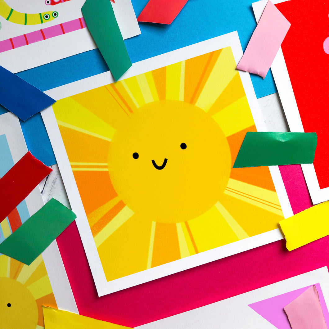 Sunshine - square giclee illustration print
