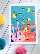 Load image into Gallery viewer, Colourful Corals - digital illustration - unframed giclee print