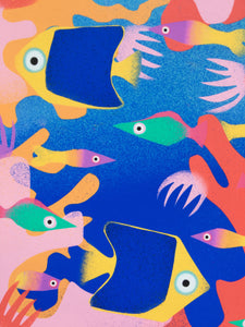 The Reef 3 - digital illustration - unframed giclee print