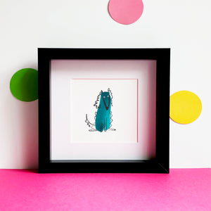 Afghan Hound Illustration - unframed mini giclee print