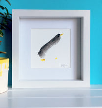 Load image into Gallery viewer, Curious Penguin Illustration - Framed Mini Giclee Print