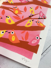 Load image into Gallery viewer, Little Birds Illustration - unframed giclee print