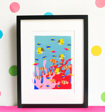 Load image into Gallery viewer, The Reef 1 - digital illustration - unframed giclee print