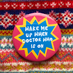 Christmas Telly 58mm badge